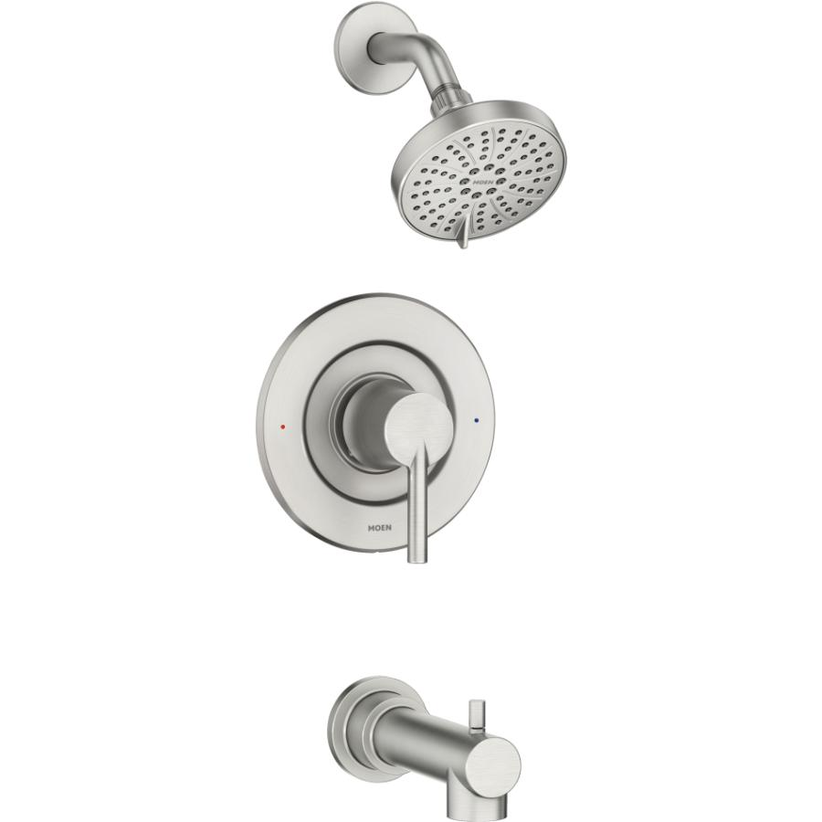 Moen Arlys Tub & Shower Faucet - with Pressure Balance, Brushed Nickel