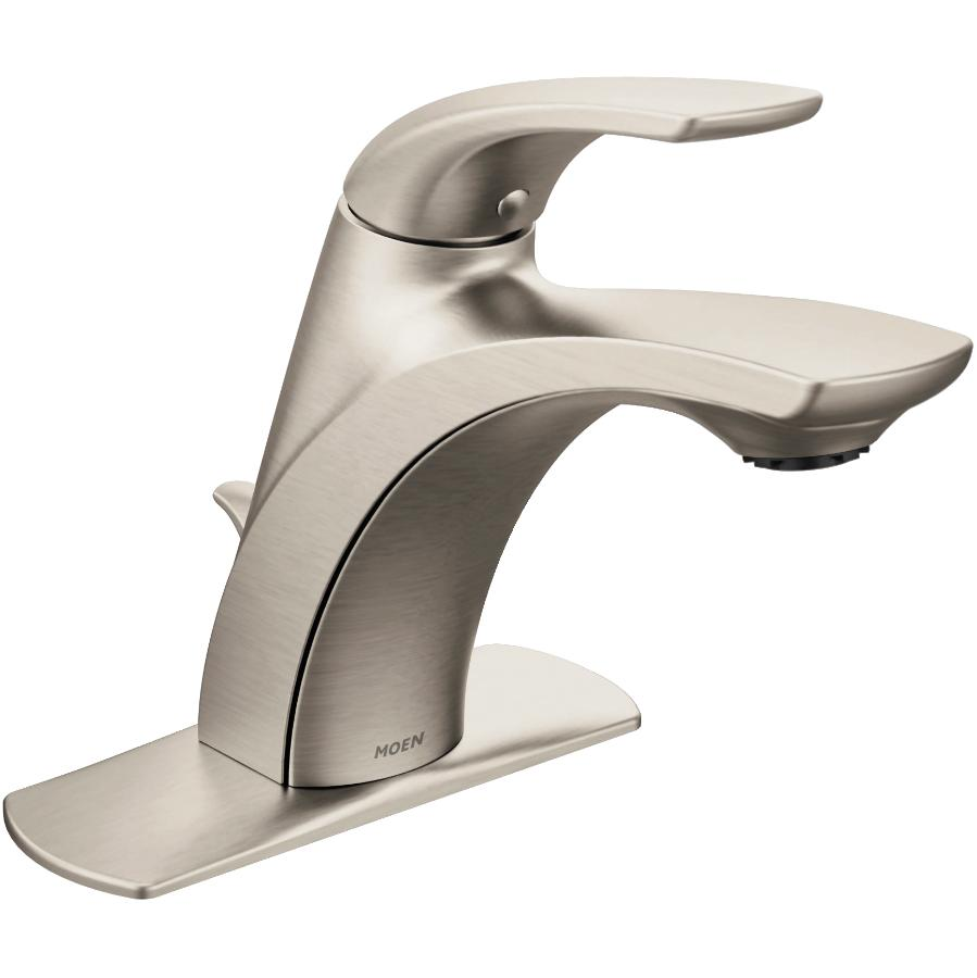 Moen Zarina 1 and 3 Hole Brushed Nickel Single Handle Lavatory Faucet with Pop Up