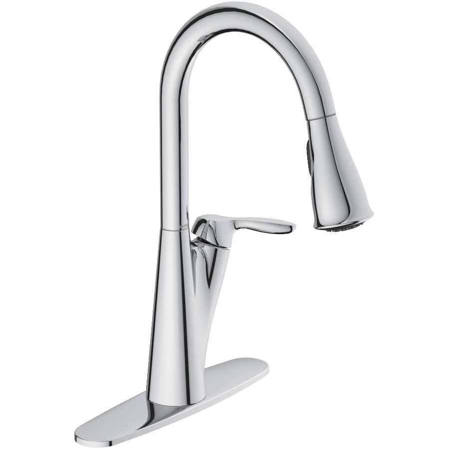 Moen Harlon Chrome Pulldown Kitchen Faucet, with Soap Dispenser