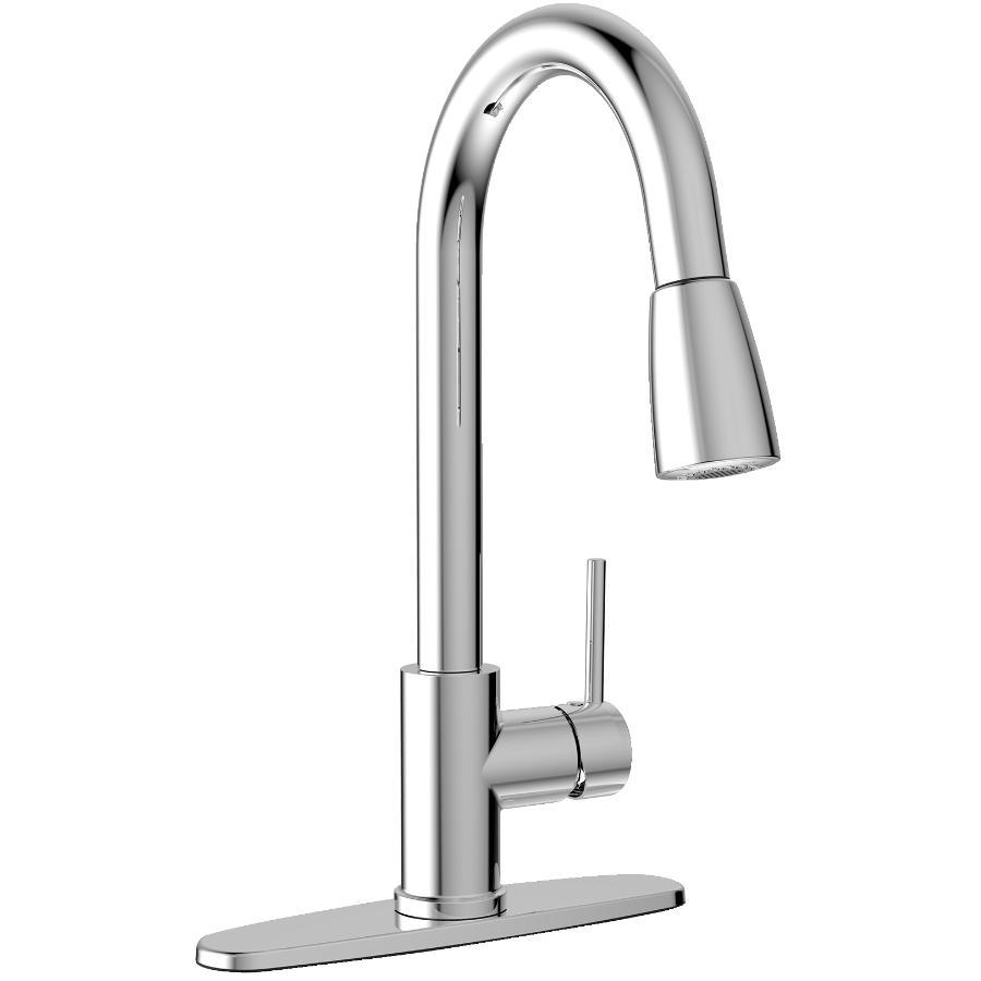 Essential Urbania Chrome Pulldown Kitchen Faucet Deck