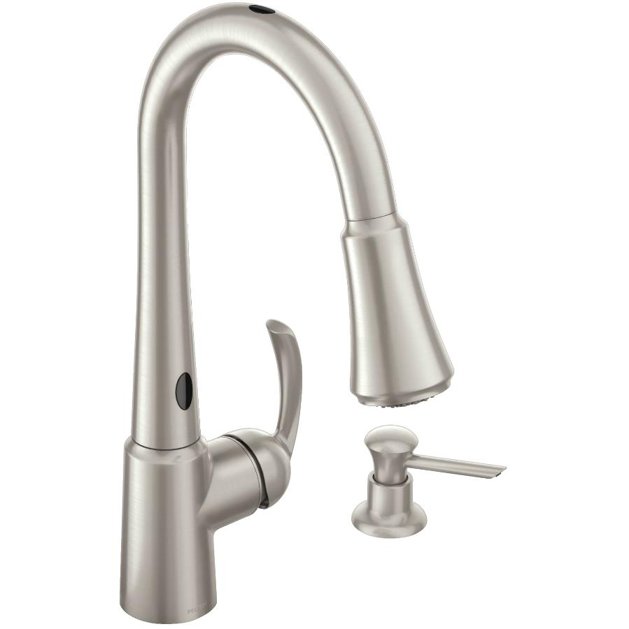 MOEN Delaney Spot Resist Stainless Steel 1 Handle Pulldown Kitchen Faucet with Motion Sense
