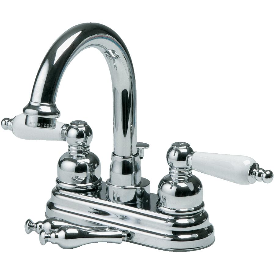 Eurostream High-Spout Lavatory Faucet, with Porcelain and Chrome Handles