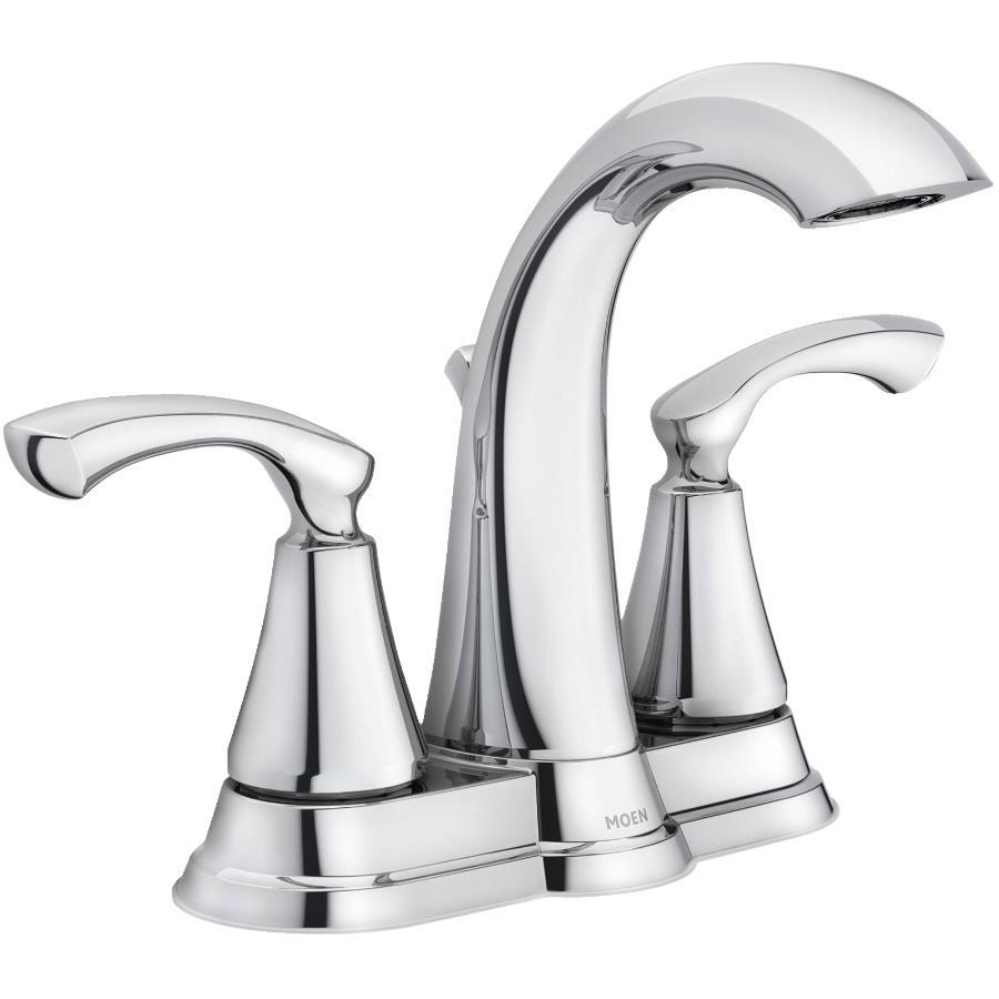 MOEN Tiffin 3 Hole Chrome 2 Lever Handle Lavatory Faucet