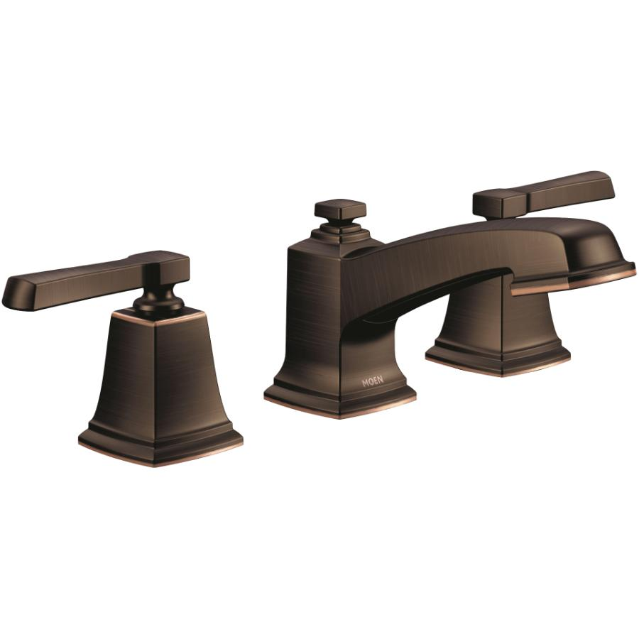 "MOEN Boardwalk Two Lever 8"" Widespread Mediterranean Bronze Lavatory Faucet"