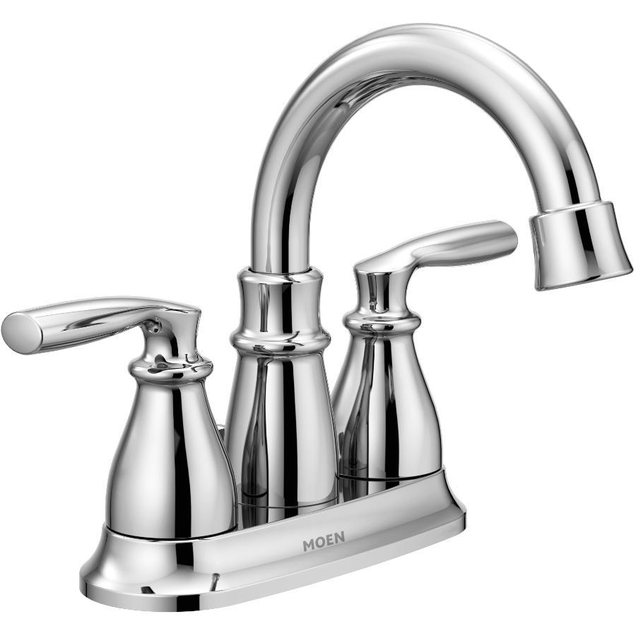 Moen Hilliard 3 Hole Chrome 2 Lever Handle Lavatory Faucet