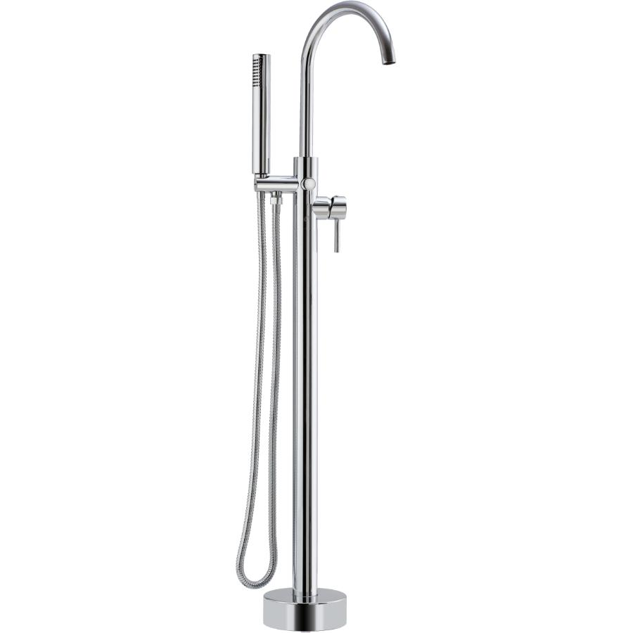 essential: chrome freestanding bathtub faucet with hand shower