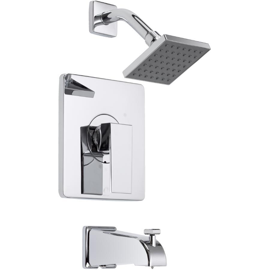 Essential Chrome Single Lever Quadrato Pressure Balance Square Design Tub and Shower Faucet