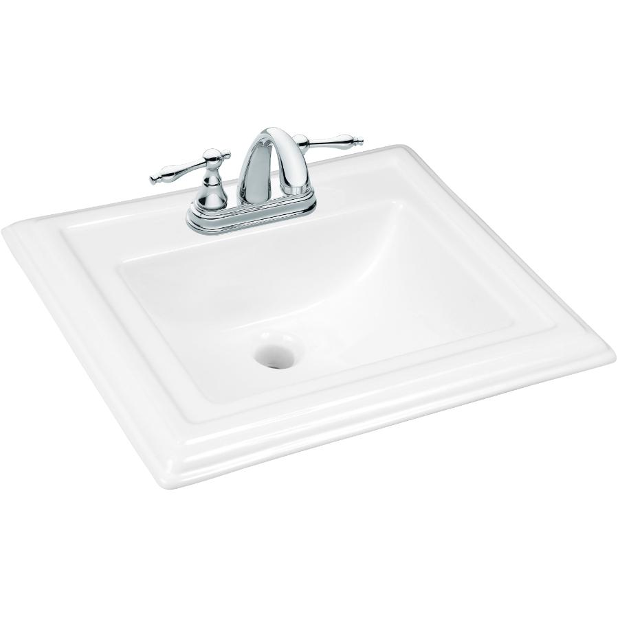 """Foremost Dietrich Rectangular Drop-In White Basin with 4"""" Centres"""
