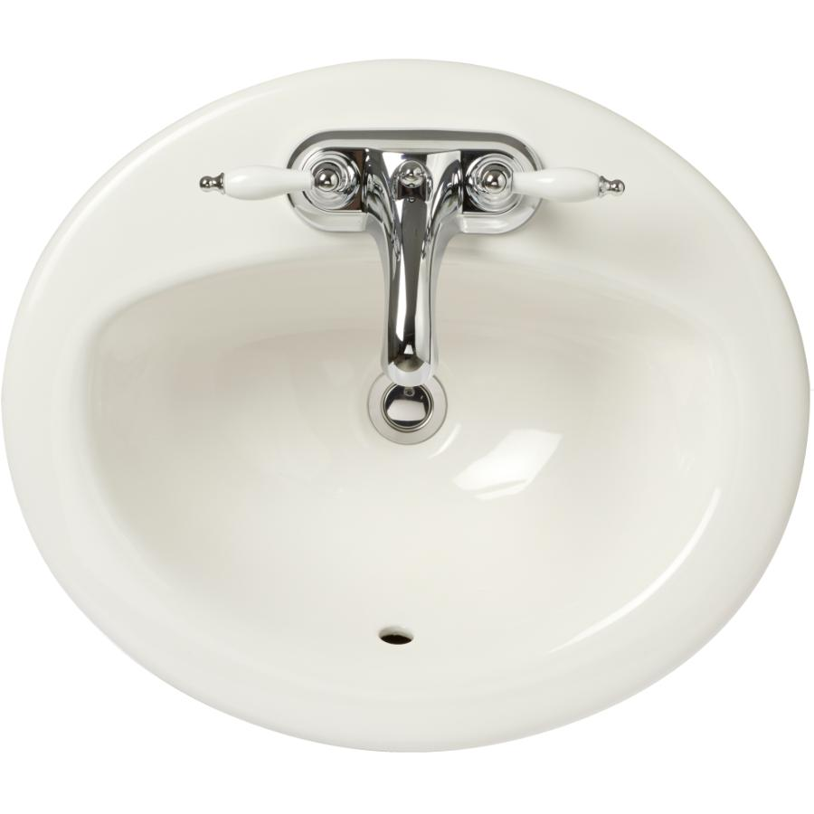 "Chelini 20"" x 17"" x 6"" White China Vanity Basin"