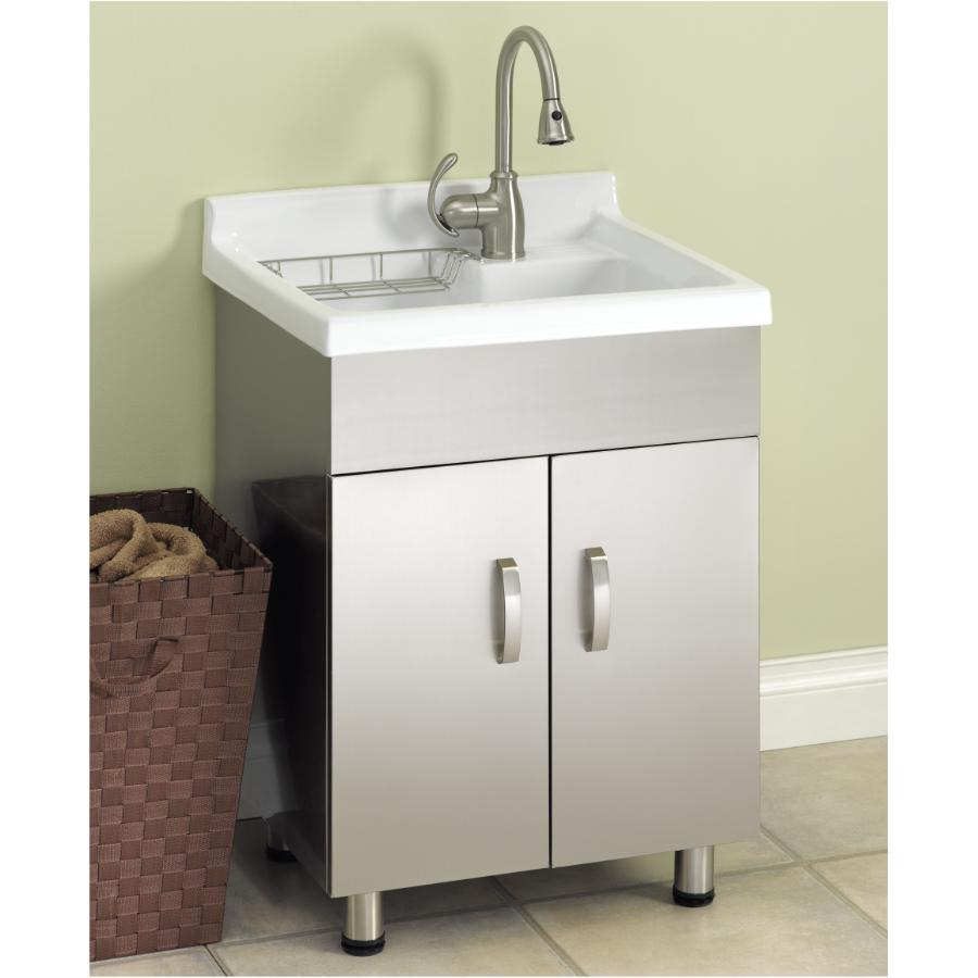 Generic Stainless Steel Laundry Cabinet With China Sink Fennell Gage Home Hardware