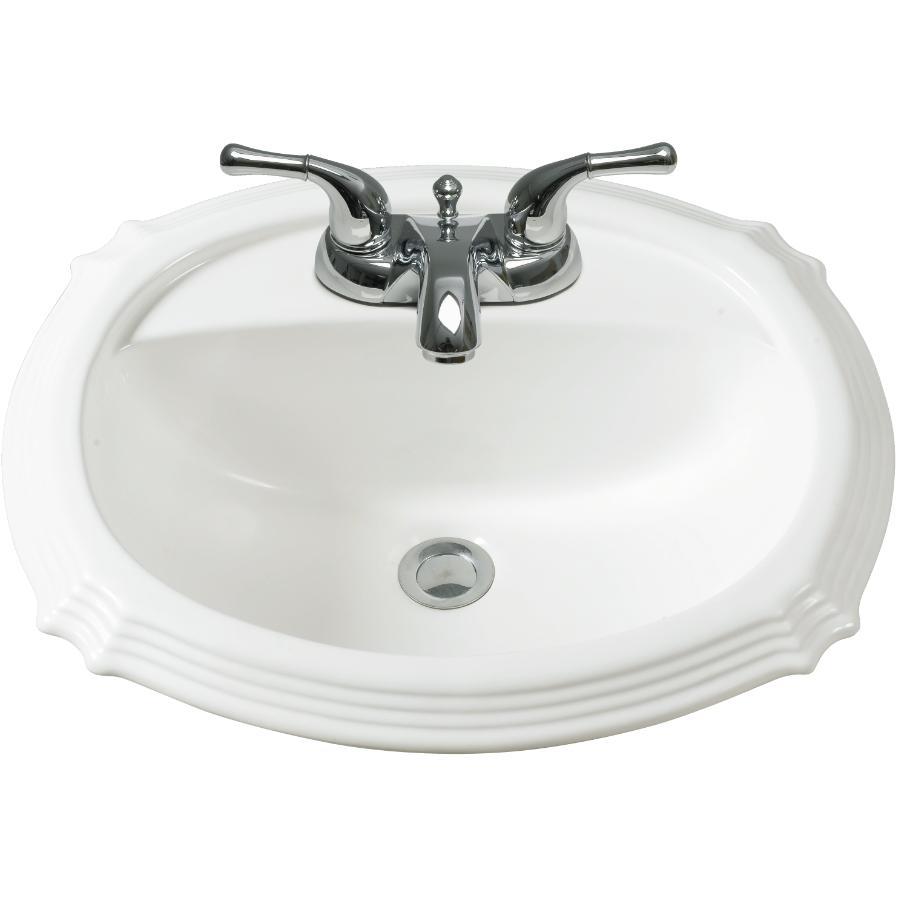 "Chelini 23"" x 19"" Deco White Basin"