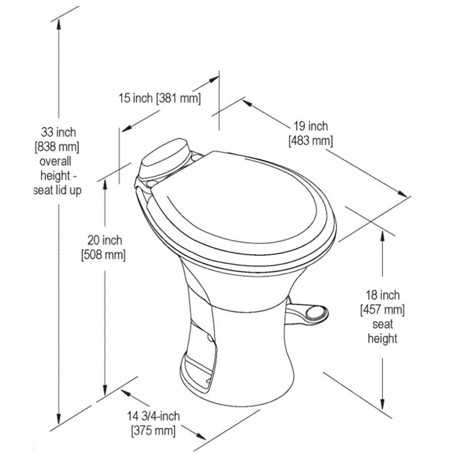 Remarkable Dometic White Portable Rv 310 Toilet Fennell Gage Home Short Links Chair Design For Home Short Linksinfo