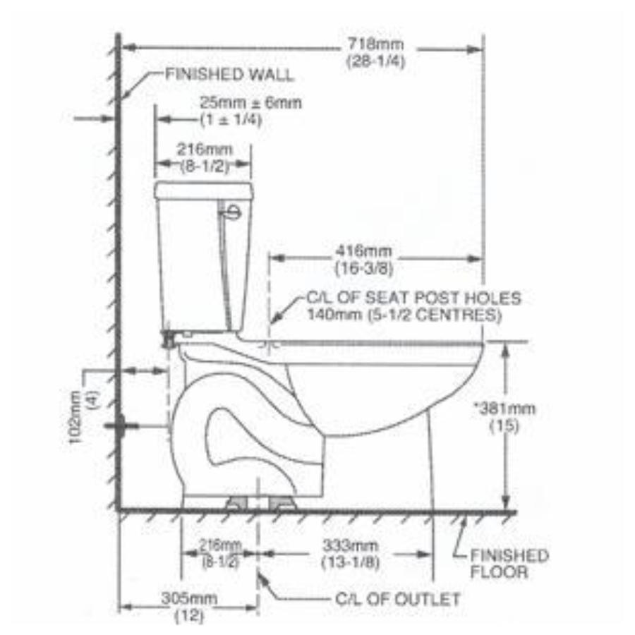 American Standard Ravenna 6l White Round 2 Piece Toilet