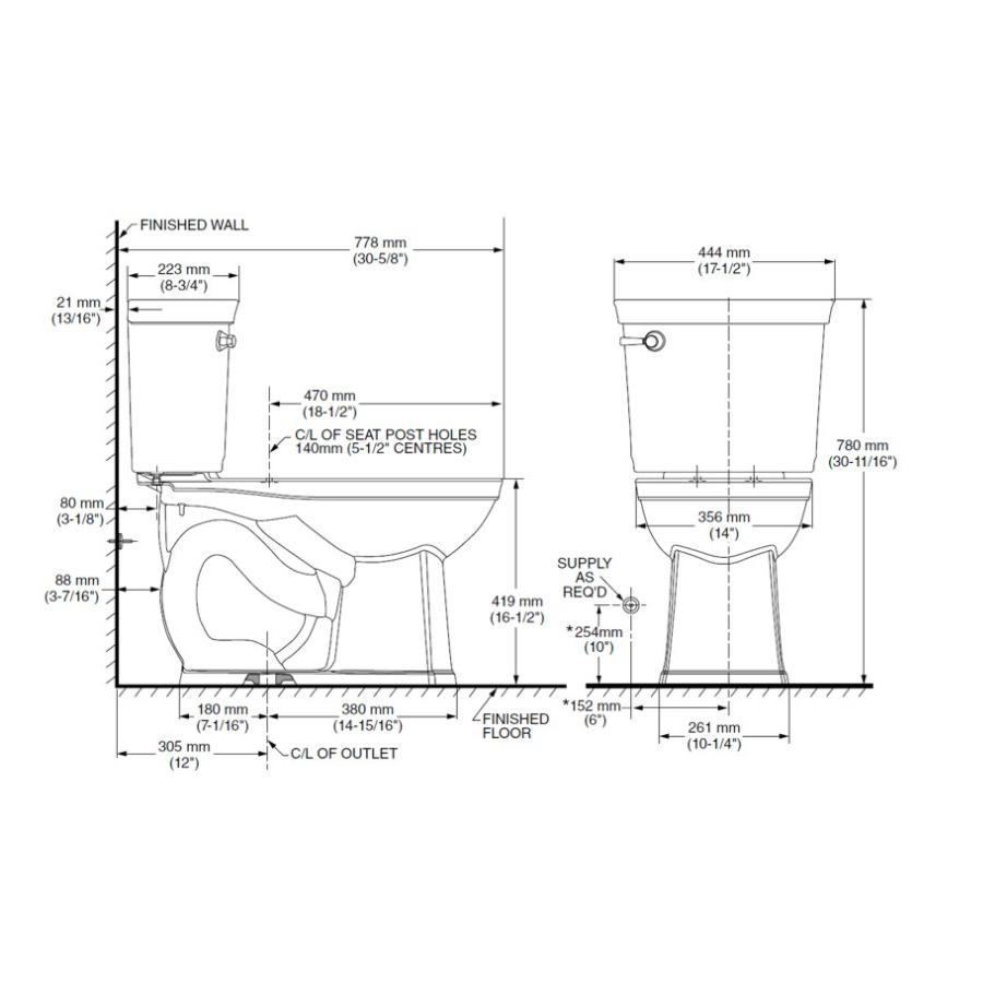 American Standard Astute Vormax 4 8l 16 5 White Het Right Height Elongated Complete 2 Piece Toilet In A Box With Seat Wax Ring And Bolts Fennell Gage Home Hardware,How To Decorate A Desk Area
