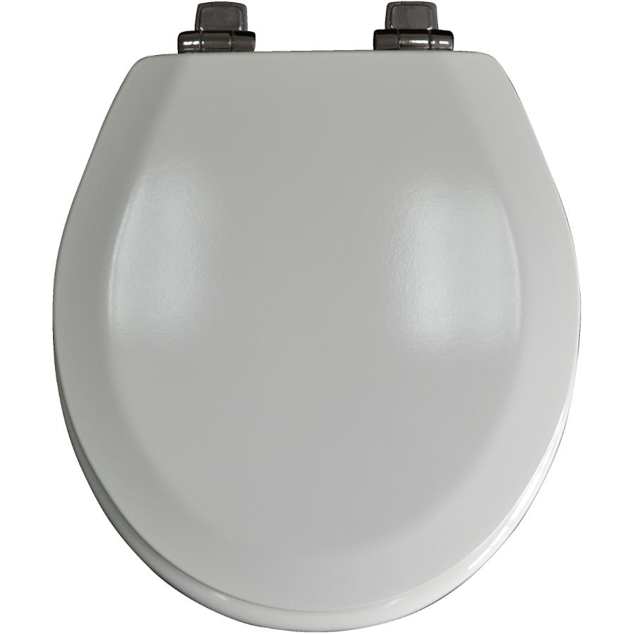 Home Plumber Slow Close Moulded Wood Toilet Seat with Chrome Hinges