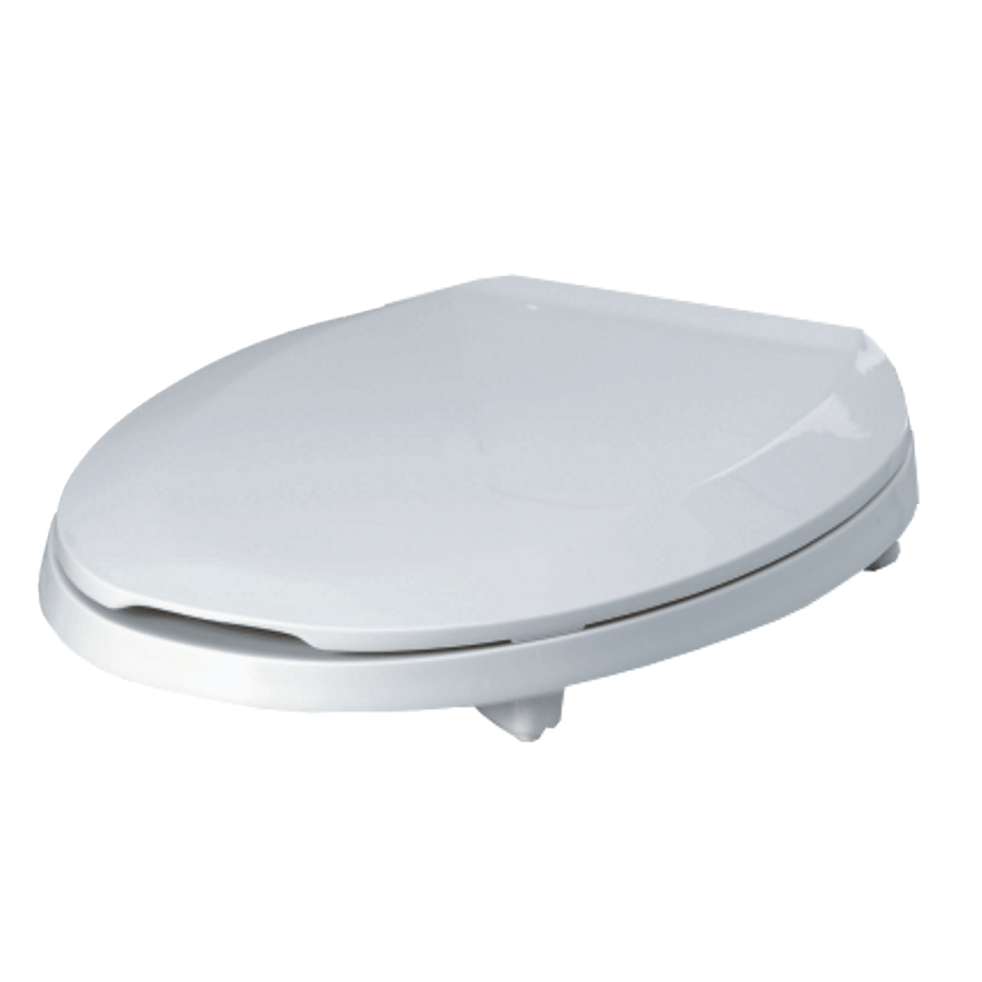 "PETER ANTHONY White Elongated Toilet Seat, with Lid and 2"" Lift"