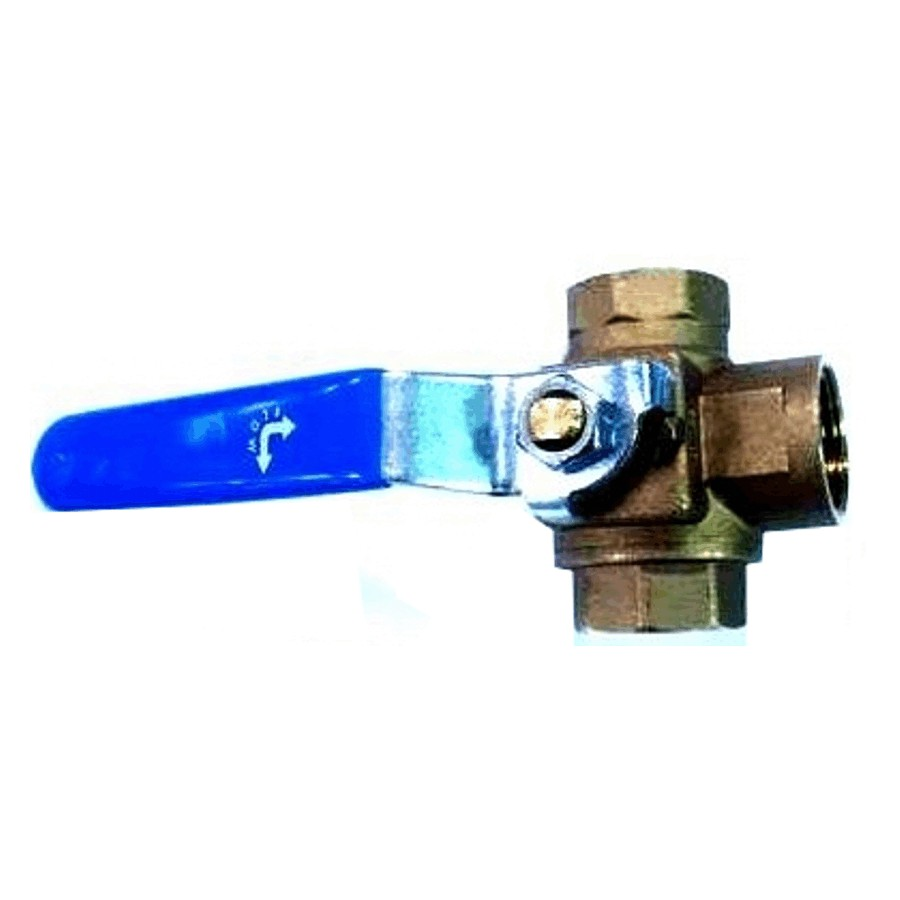 "Generic 3/4"" IPS 3-Way Ball Valve"