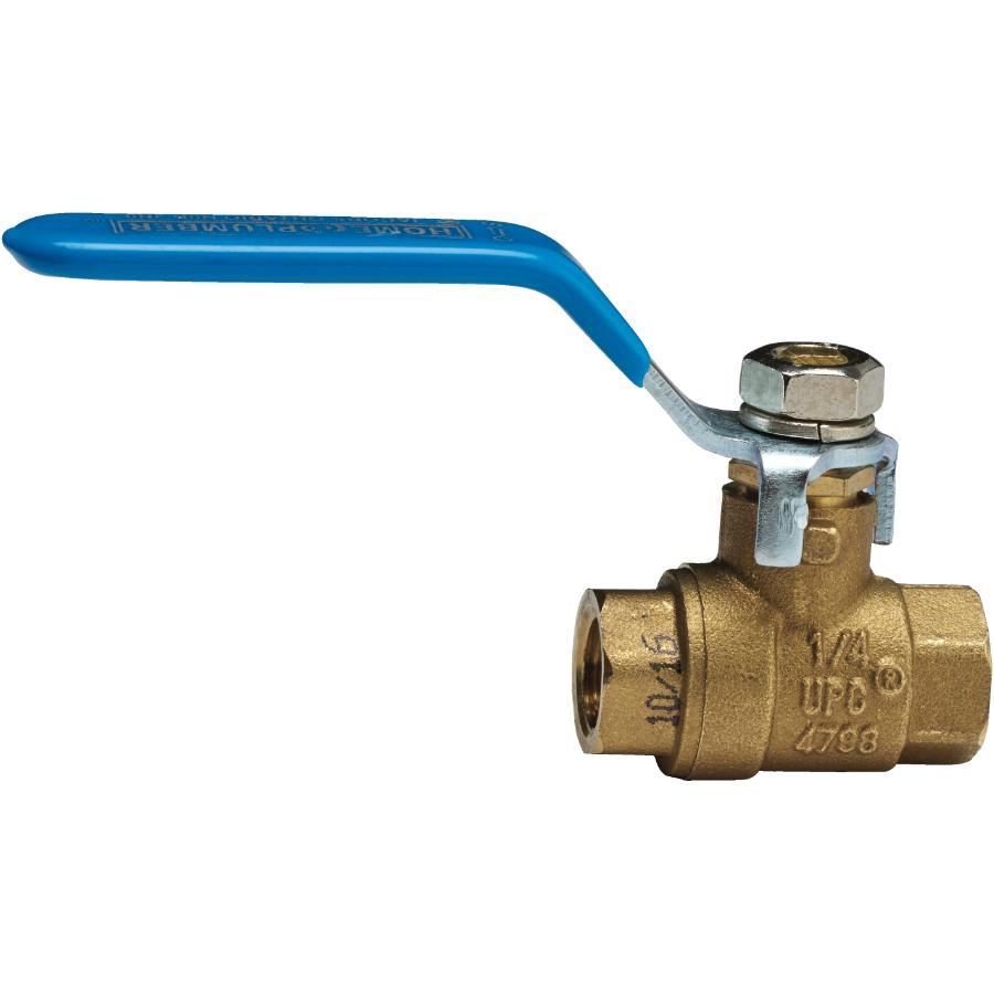 "Home Plumber 1/4"" IPS Brass Ball Valve"