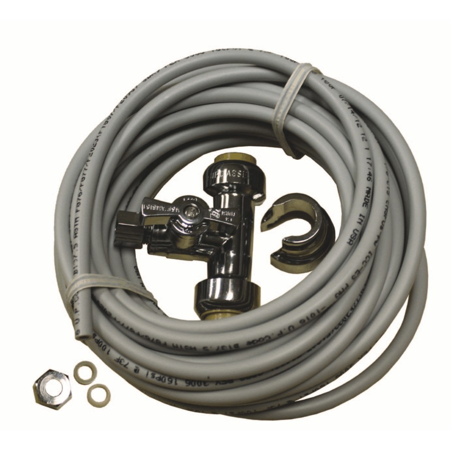 Waterline Products Icemaker Installation Kit, with PEX Tubing