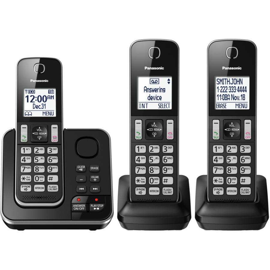 Panasonic 3 Pack Dect 6.0 Cordless Answerphones