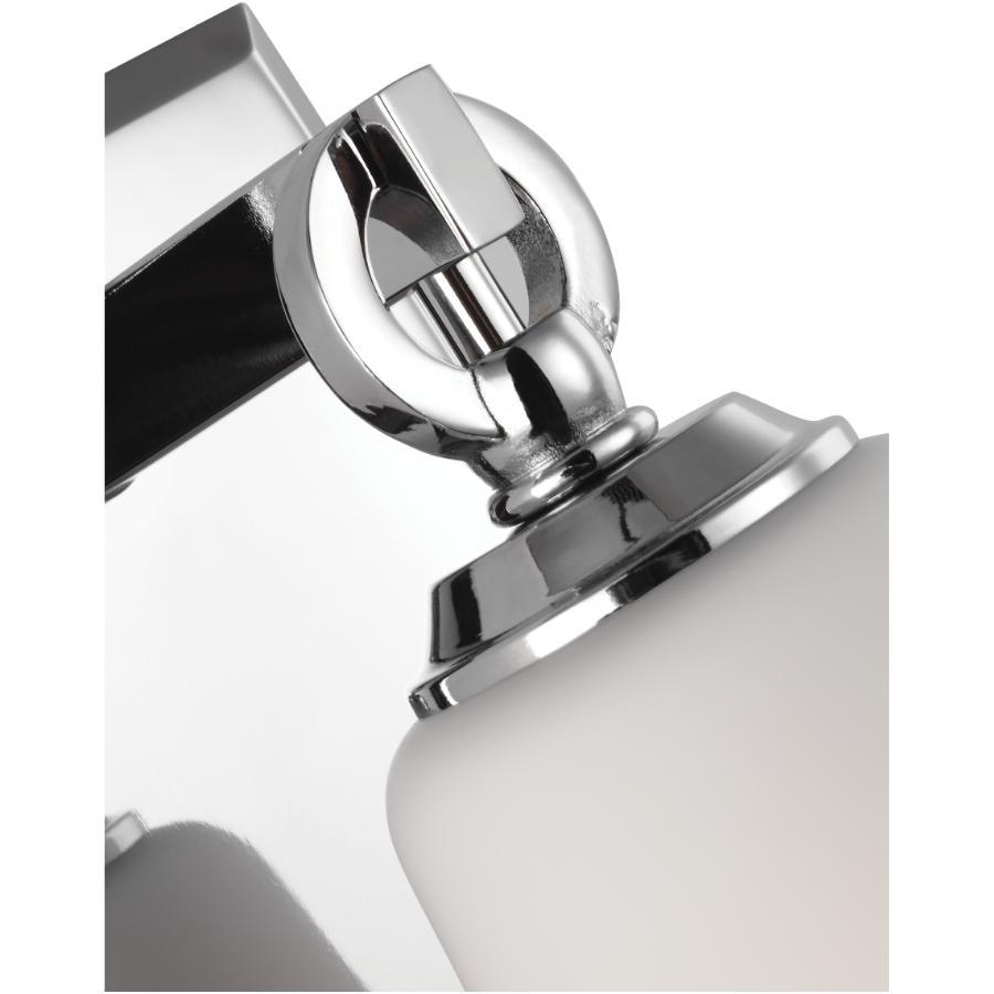 Feiss Monterro 1 Light Chrome Vanity Light Fixture, Opal Glass