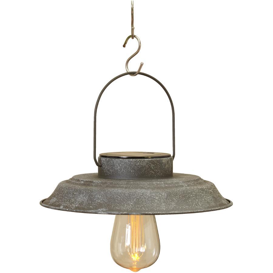 Gerson International Antique Grey Hanging Solar Pendant Light