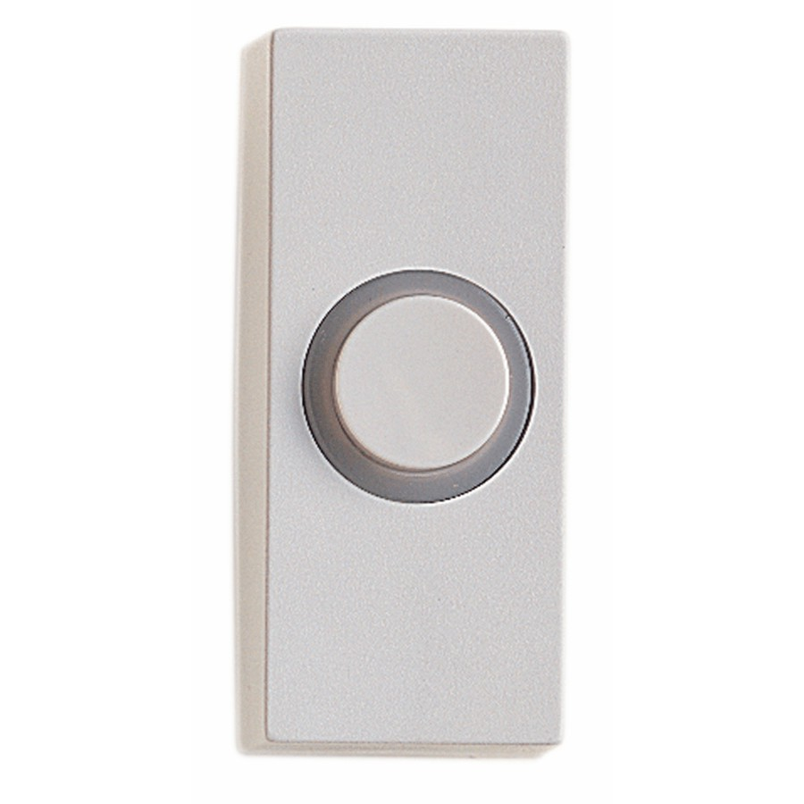 Honeywell Lighted Wired White Doorbell Push Button