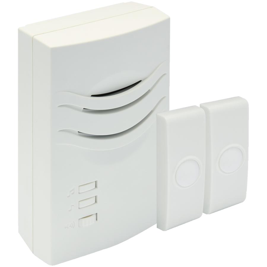 Iq America Wireless Plug-In Doorbell Chime with 2 Buttons