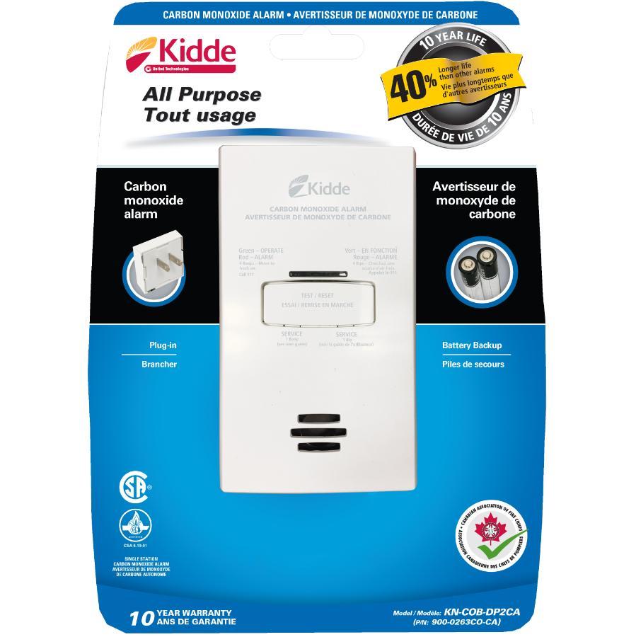 KIDDE: Plug-In Carbon Monoxide Detector, with Battery Back-Up