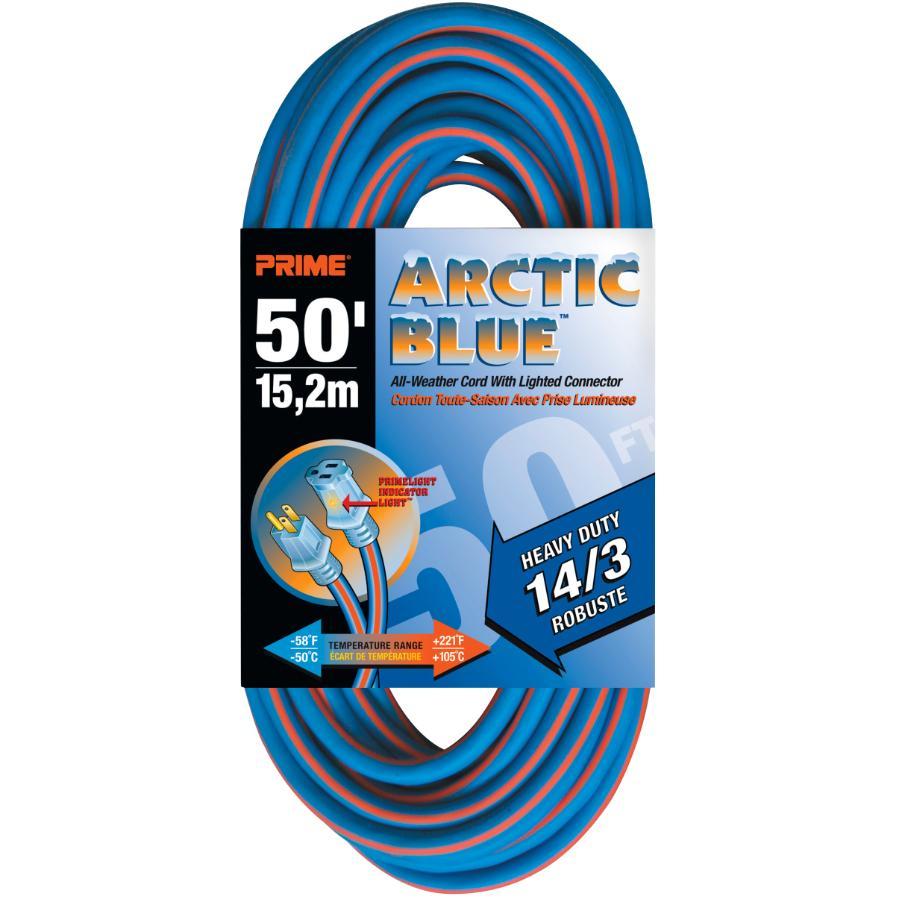 Prime 50' 1 Outlet SJEWO 14/3 Blue Extension Cord