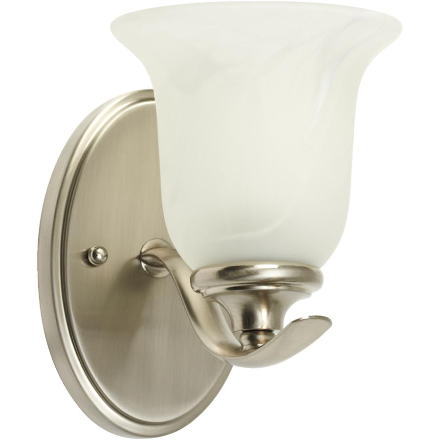 Galaxy: Concord 1 Brushed Nickel Wall Light with Marbled Glass