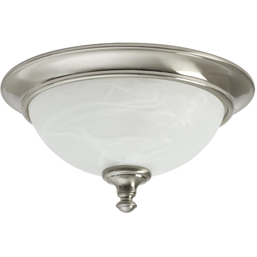 """Galaxy 13"""" Concord Flush Mount Brushed Nickel Light with Marbled Glass"""