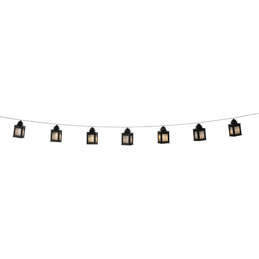 Instyle Outdoor 10 Light Mini Black Lanterns Solar Light Set