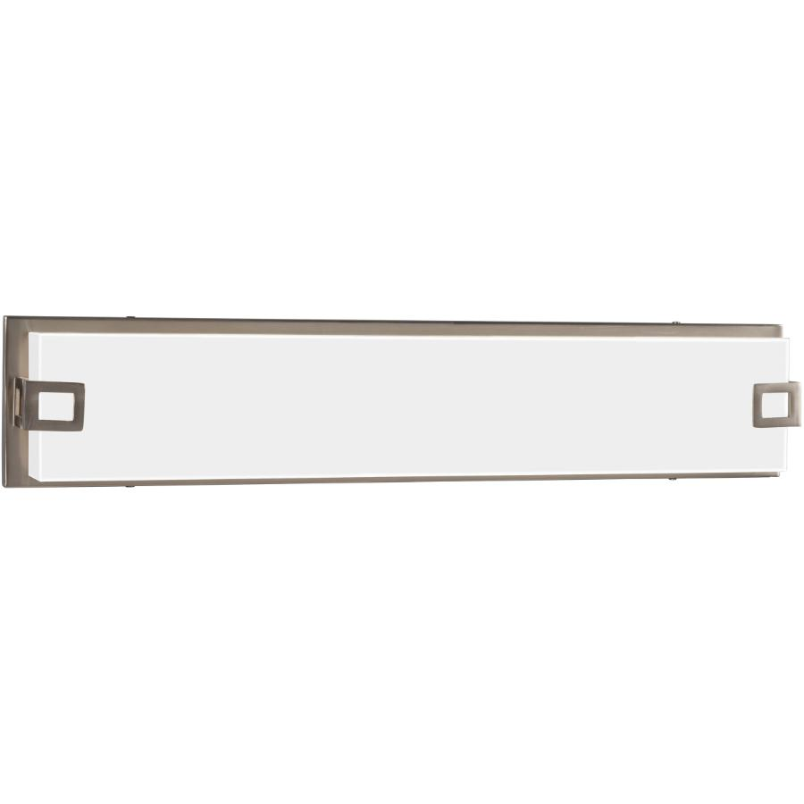 "Galaxy Brushed Nickel Cyrus 37.5W 25.125"" LED Dimmable Vanity Fixture, with White Acrylic Glass"