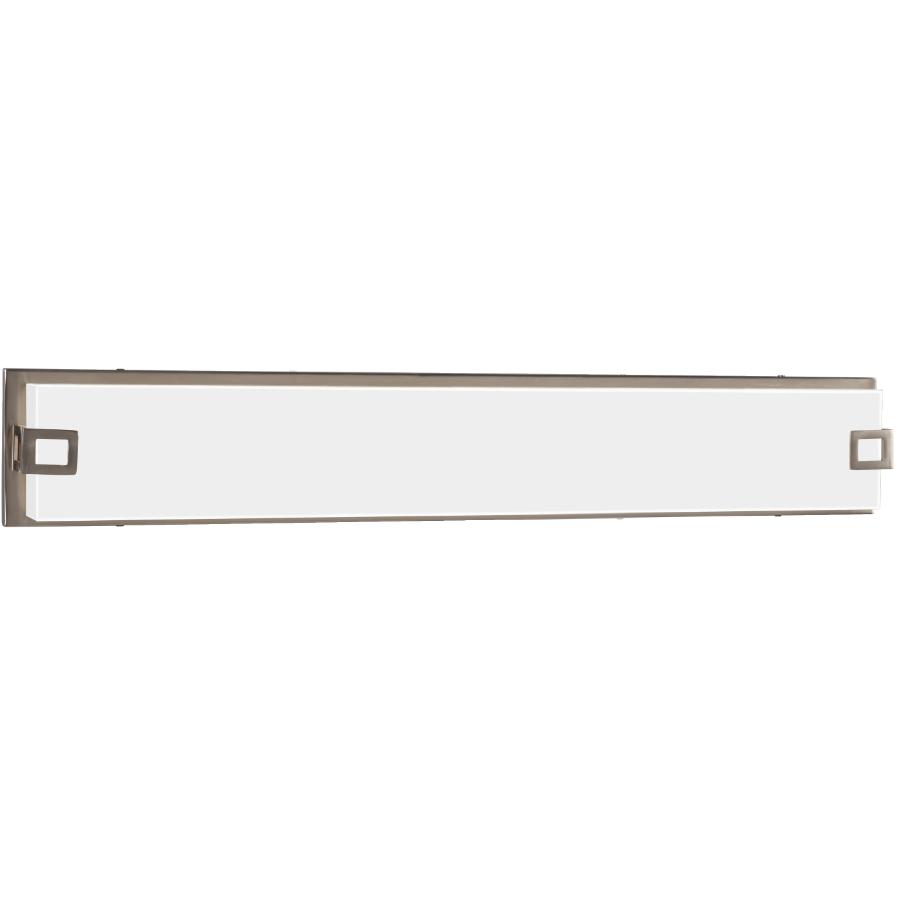 "Galaxy Brushed Nickel Cyrus 47.5W 32.5"" LED Dimmable Vanity Fixture, with White Acrylic Glass"