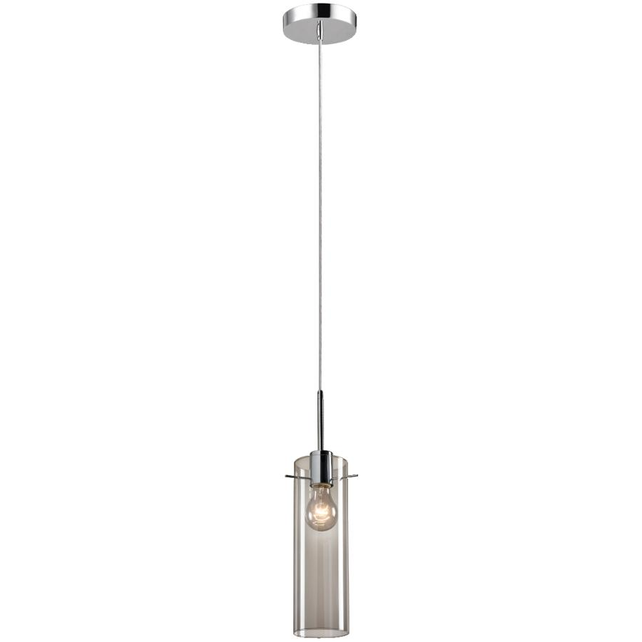 Globe Electric Parkhaven 1 Light Chrome with Clear Glass Shade Plug-in or Hardwired Pendant Light Fixture