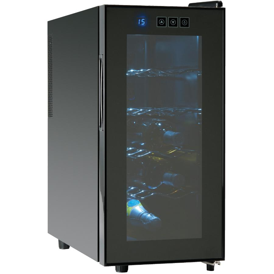 Koolatron 10 Bottle Black Countertop/Floor Wine Cooler