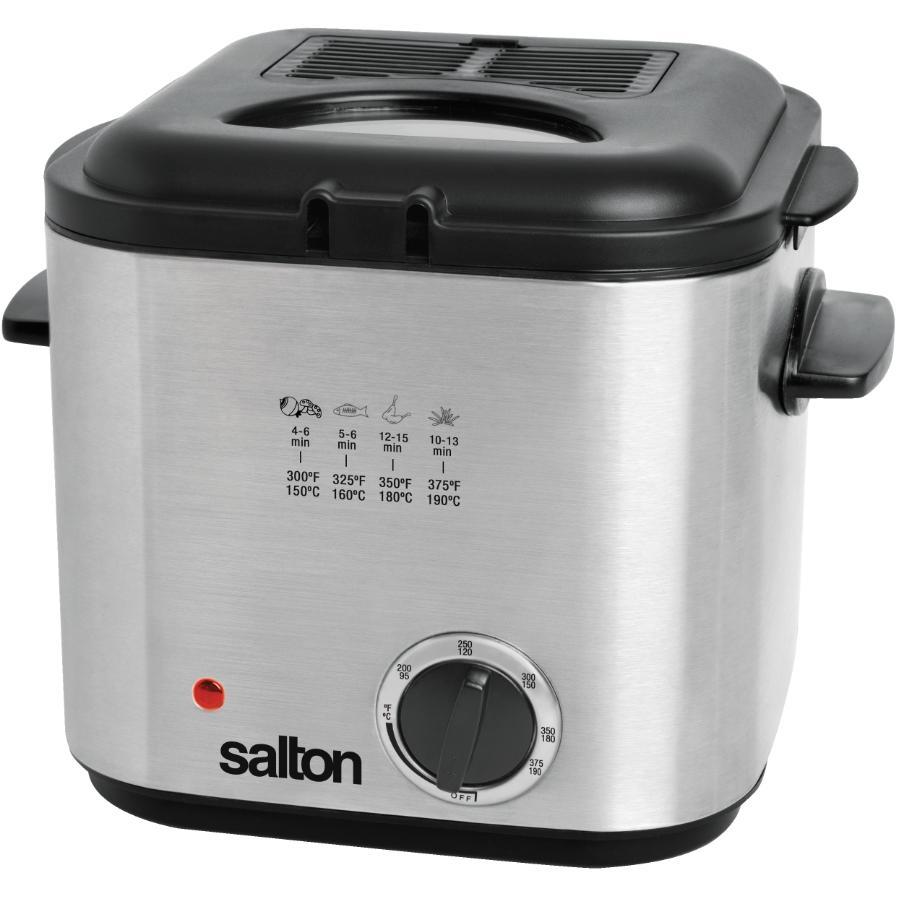 Salton 840 Watt 1.2L Square Stainless Steel Deep Fryer