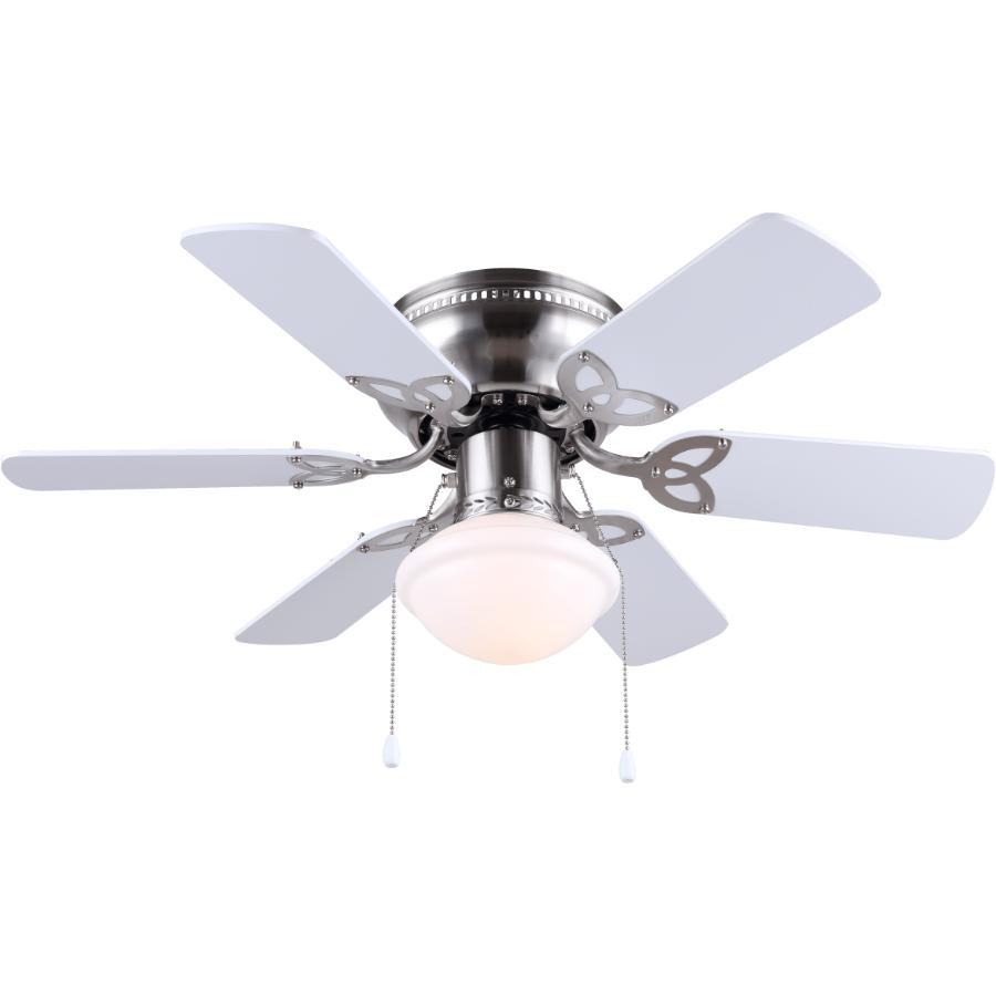 """Canarm Twister 30"""" 6 Blade Pewter Ceiling Fan with Light"""