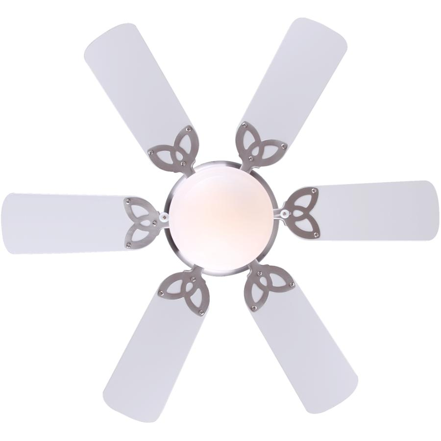 """Canarm: Twister 30"""" 6 Blade Pewter Ceiling Fan with Light"""