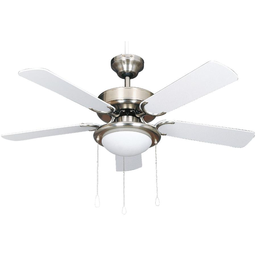 """Canarm Eclipse 42"""" 5 Blade White Pewter Ceiling Fan with Light"""