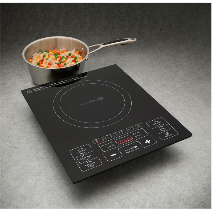 Kuraidori: 1800 Watt Smooth Top Single Burner Induction Cooker