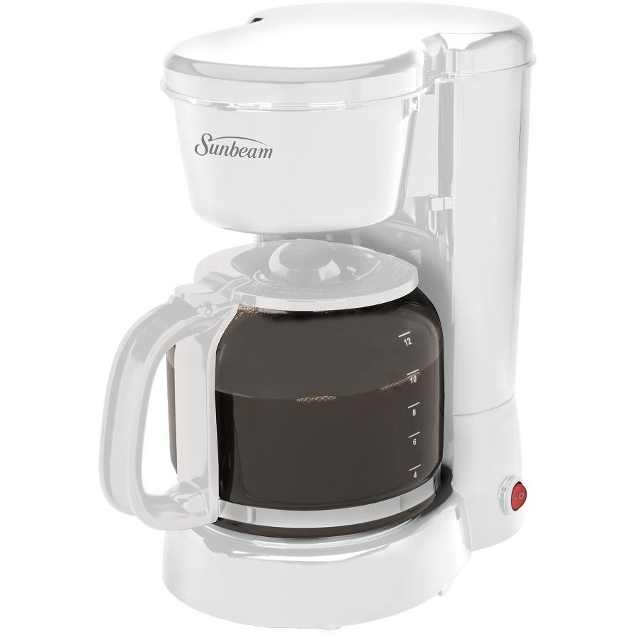 Sunbeam 12 Cup White Basket Coffee Maker