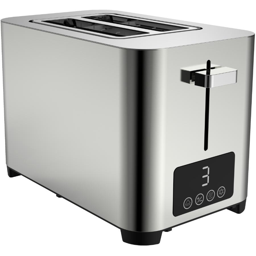 Salton 2 Slice Digital Stainless Steel Toaster - with Extra Wide Slots