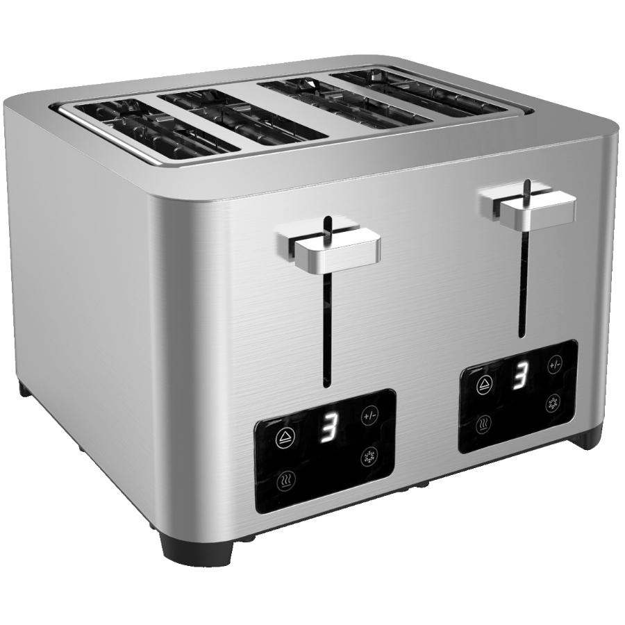 Salton 4 Slice Digital Stainless Steel Toaster - with Extra Wide Slots