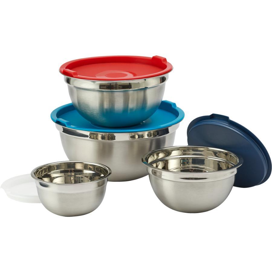 Kuraidori Select 8 Piece Stainless Steel Mixing Bowl Set, with Lids