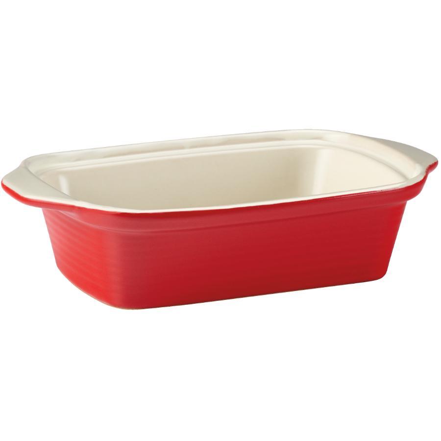 "Kuraidori 9-1/2"" Red Loaf Dish"