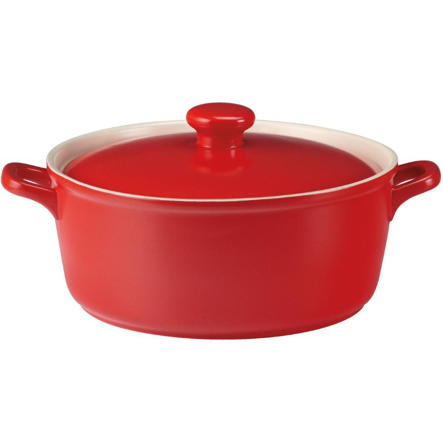 Kuraidori 2.5L Red Casserole Dish, with Cover
