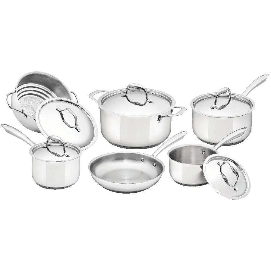 KURAIDORI SELECT 11 Piece Stainless Steel Cookware Set, with Lids