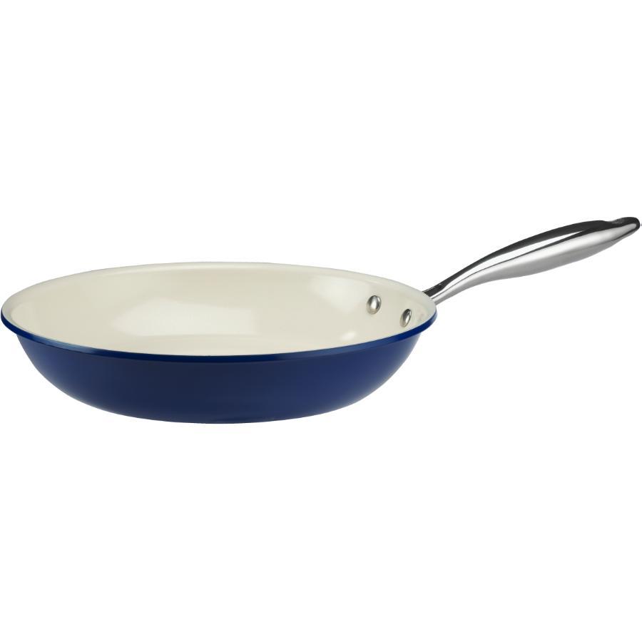 Kuraidori Select: 28cm Blue Ceramic Non Stick Frying Pan
